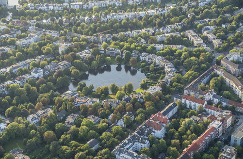 Germany, Hamburg, aerial view of Rondeelteich - PVCF01020
