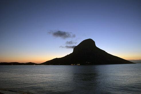Greece, Kalymnos, rock in Massouri at twilight - LMF00667