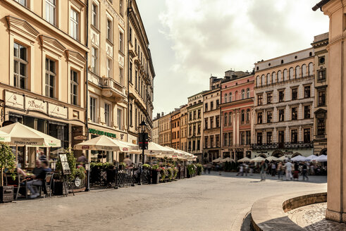 Poland, Krakow, Old Town, town houses at Main Square - CSTF01234