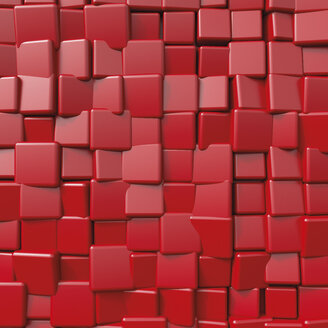 Red cubical shape, 3D Rendering - UWF01119