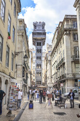 Portugal, Lisbon, view to Santa Justa Lift - VT00587