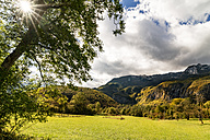 Slovenia, Bovec, Triglav National Park, Kanin Valley in autumn - CSTF01256