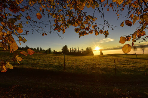 Germany, Allgaeu, sunrise in autumn - FDF00219