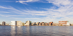 Netherlands, Amsterdam, view to Westerdok, IJDock with IJ River in the foreground - WDF03919