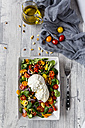 Plate of tomato salad with Burrata - SARF03196