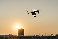 Drone in the sky at sunset - KNSF01128