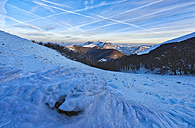 Italy, Umbria, Apennines, frost-covered Monte Cucco - LOMF00524