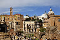 Italy, Rome, Temple of Vespasian and Titus and Church of Santi Luca e Martina at Forum Romanum - DSG01486