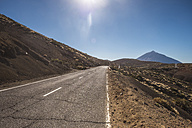 Spain, Tenerife, empty road in El Teide region - SIPF01431
