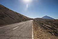 Spain, Tenerife, empty road in El Teide region - SIPF01431