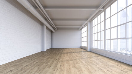 Empty loft, 3D Rendering - UWF01129