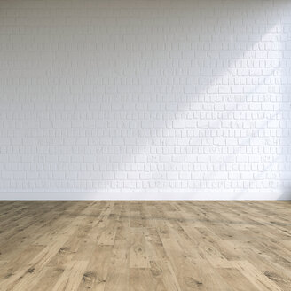Textured white wall in a loft, 3D Rendering - UWF01135