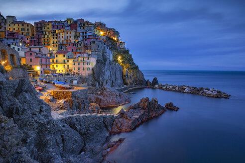 Italy, Liguria, Cinque Terre, Manarola at dawn - YRF00156