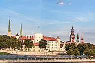 Latvia, Riga, cityscape with castle and churches - CSTF01324
