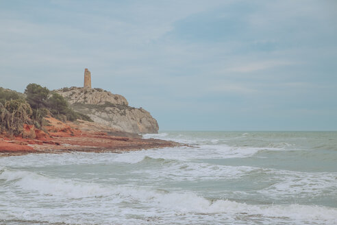 Spain, Oropesa del Mar, view to Torre de la Colomera - RTBF00732