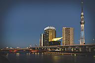 Japan, Tokyo, Asakusa, Sumida River and Skytree - KEBF00514