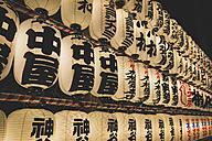 Japan, Tokyo, Asakusa, lampions at Asakusa Shrine - KEBF00526