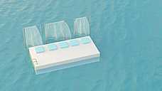 Platform with cushions floating in the sea, 3d rendering - UWF01143