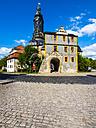 Germany, Weimar, Gruener Markt with city castle - AMF05322
