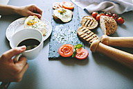 Breakfast with eggs, coffee and tomatoes - GIOF02154