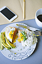 Having a break with eggs, avocado, bread and coffee - GIOF02160
