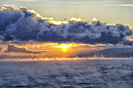 Arctic Ocean, clouds above the Barents Sea at twilight - DSGF01548