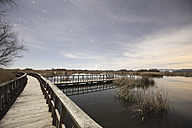 Spain, Daimiel, Tablas de Daimiel National Park under starry sky - DSGF01572