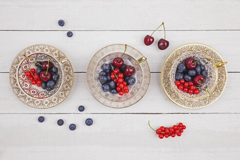 Collectors cups with blueberries, red currants and cherries - GWF05020