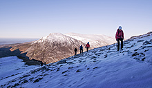UK, North Wales, Snowdonia, Ogwen, Cneifion Rib, mountaineers - ALRF00853