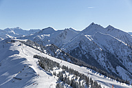 Austria, Salzburg State, St. Johann im Pongau District, view from Fulseck summit station to mountains in winter - MABF00449