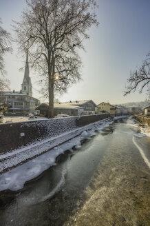 Germany, Bavaria, Prien am Chiemsee in winter - THAF01906