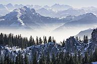 Germany, Bavaria, Aschau, winter landscape as seen from Kampenwand - THAF01912