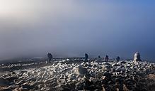 UK, Scotland, Ben Nevis, mountaineers on summit - ALRF00875
