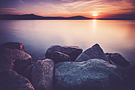 Italy, Lago Viverone at sunset - SIPF01475