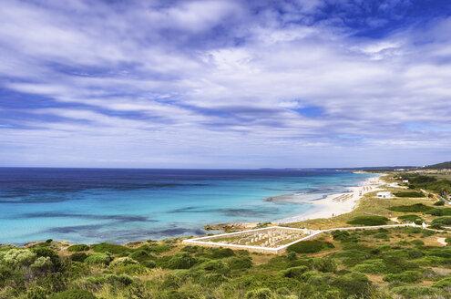 Spain, Menorca, Son Bou Beach and Basilica de Son Bou - SMAF00697