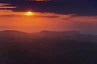 Spain, Menorca, sunset from Monte Toro - SMAF00715