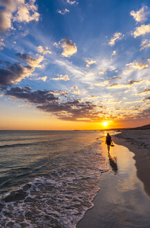 Spain, Menorca, Son Bou, sunset - SMAF00721