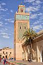 Morocco, Marrakesh, view to Koutoubia Mosque - DSGF01629