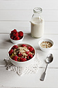 Bowl of porridge with raspberries - EVGF03127