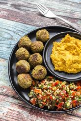 Falafel with Tabbouleh and Hummus - SARF03262