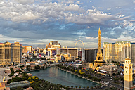 USA, Nevada, Las Vegas, Strip, hotels and Eiffel Tower - FOF09103