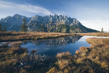 Austria, Hochkoenig, Mandlwand and moor pond - STCF00293