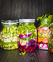 Preserving jars of various salads - KSWF01800