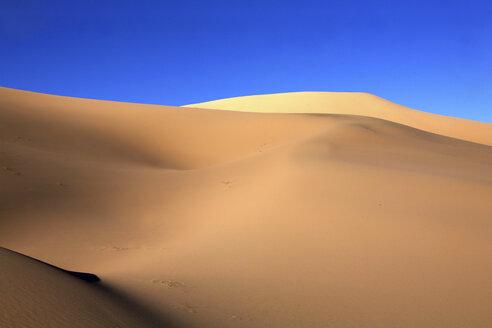 Mongolia, Gobi Gurvansaikhan National Park, Khongoryn Els, light and shade on sand dunes in Gobi Desert - DSGF01659