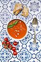 Bowl of tomato cream soup - LVF05961