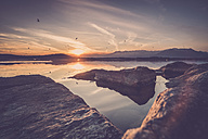 Italy, Lago Viverone at sunset - SIPF01495
