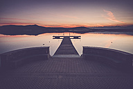 Italy, Lago Viverone after sunset - SIPF01498