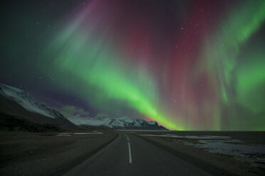 Iceland, road and scenery with Aurora Borealis - EPF00412