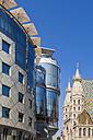 Austria, Vienna, Stephansplatz, Haas-Haus, Stephansdom - WDF03936