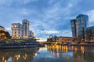 Austria, Vienna, Danube Canal, Urania, observatory and cinema, Uniqa Tower - WDF03957